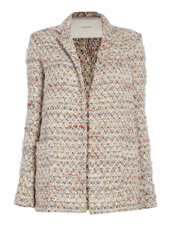 Cotton Tweed Long Blazer