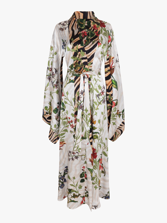 Anna Silk Satin Reversible Robe