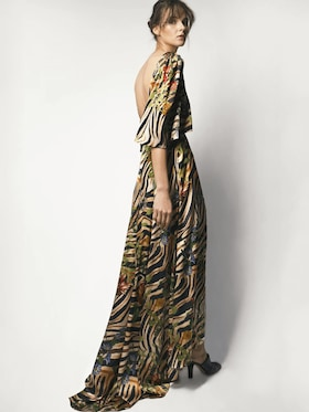 Clarisse Silk Satin Maxi Dress