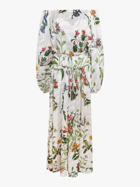 Creek Silk Satin Maxi Dress