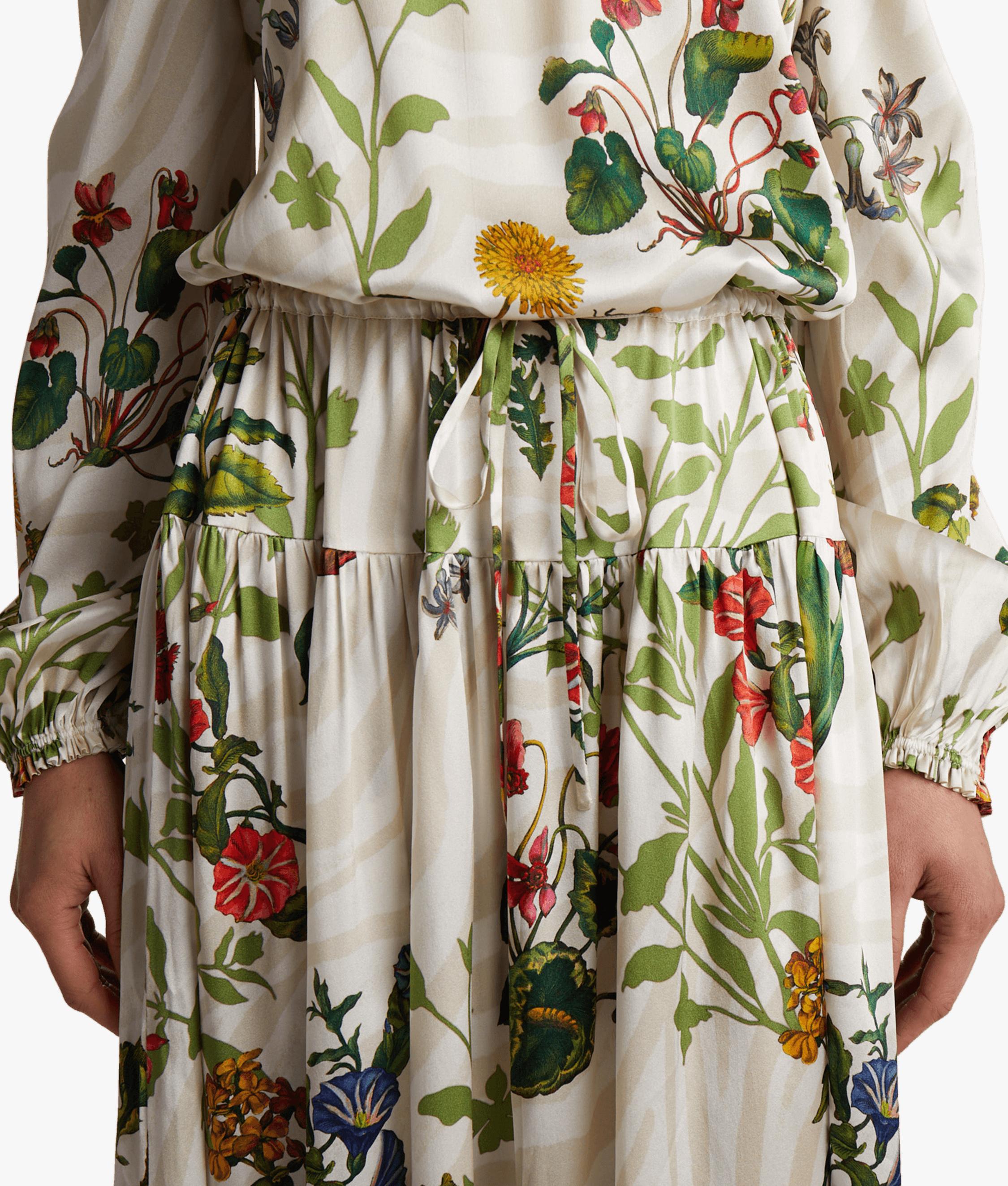 Creek Silk Satin Maxi Dress Adriana Iglesias
