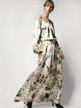 Creek Silk Satin Maxi Dress