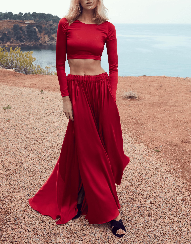 Eden Silk Satin Skirt