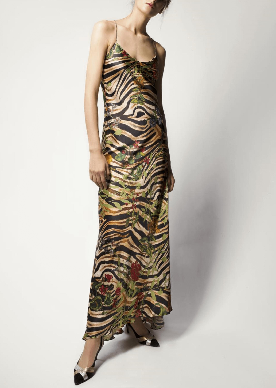 Jadi Silk Satin Maxi Dress