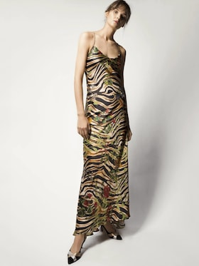 Jadi Silk Satin Maxi Dress