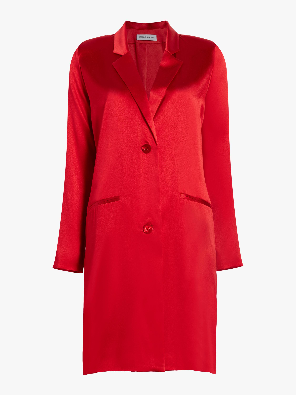 Boyfriend Silk Coat