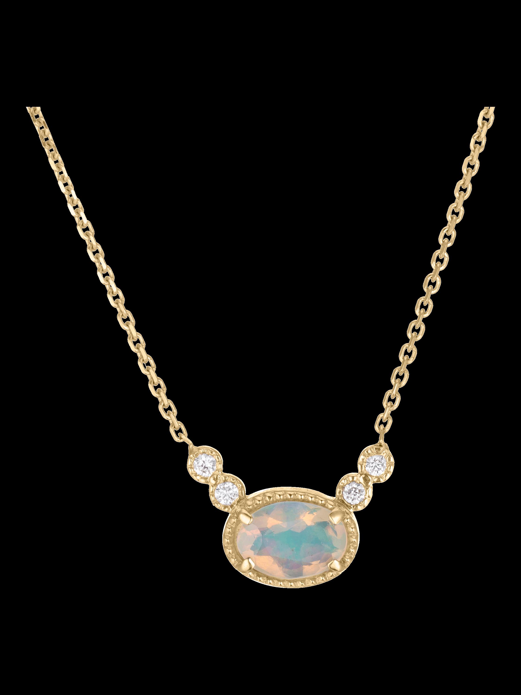 Opal Diamond Dew Necklace