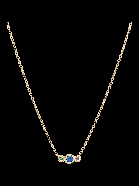 Blue Sapphire Journey Necklace