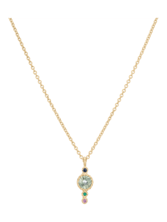 Green Sapphire Journey Necklace