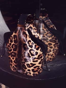 Kit Leopard Hair Calf Bracelet Bag