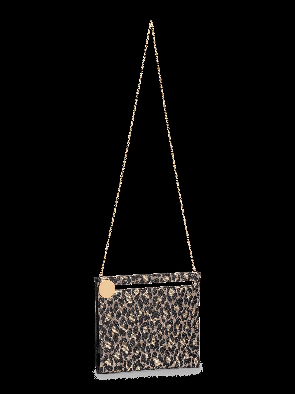 Max Leopard Clutch