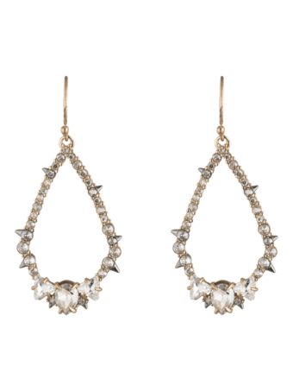 Crystal Spiked Teardrop Earrings