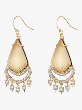 Crystal Lace Chandelier Earrings