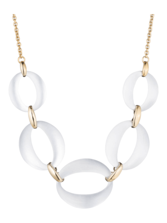 Large Lucite Link Necklace