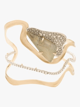 Crystal Freeform Roxbury Cuff