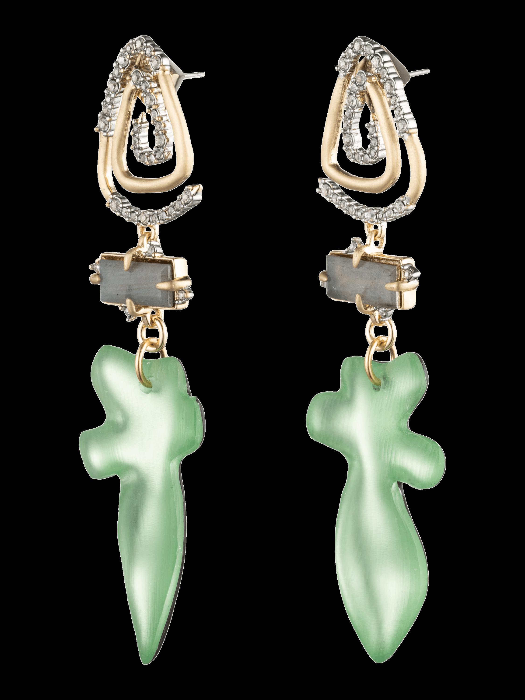 Crystal Spiral Post Earrings