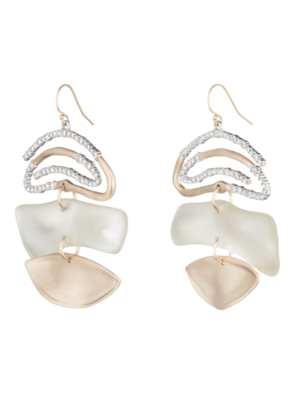 Crystal Spiral Mobile Earrings