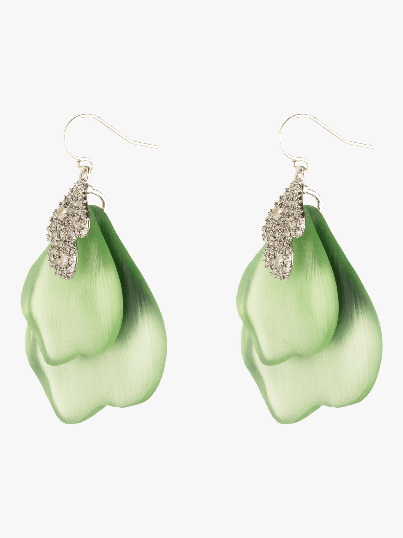 Crystal Encrusted Abstract Earrings