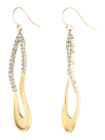 Crystal Freeform Drop Earrings