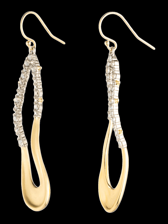 Crystal Freeform Drop Earrings