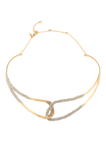 Crystal Freeform Collar Necklace