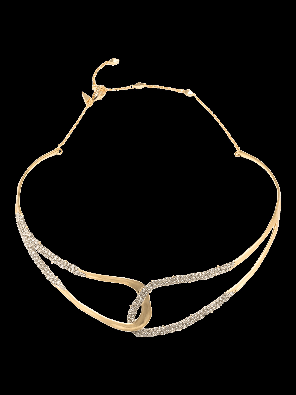 Crystal Freeform Collar Necklace