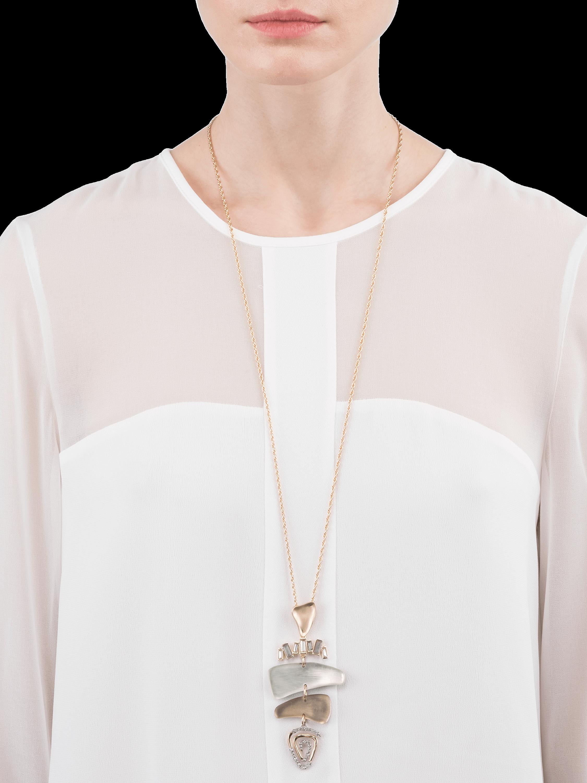 Dancing Baguette Mobile Necklace