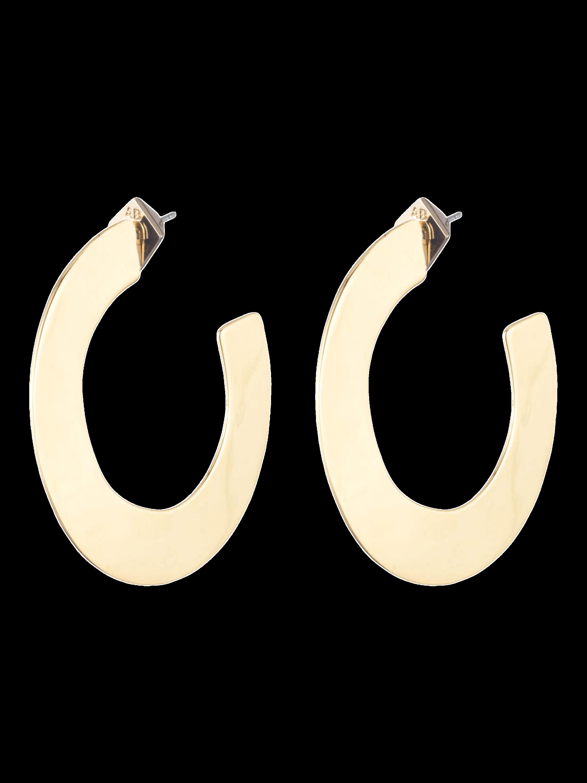 Liquid Metal Orbit Hoop Earrings