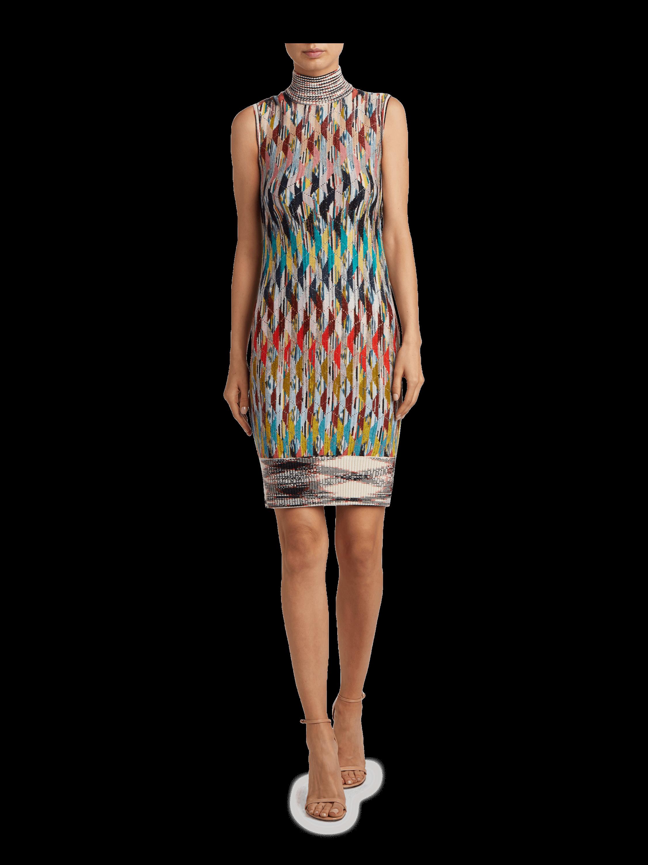 Rhombus Turtleneck Dress