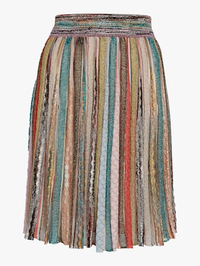 Lurex Pleated Skirt
