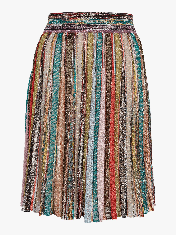 Lurex Pleated Skirt