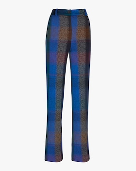 New York Check Wide Leg Trouser