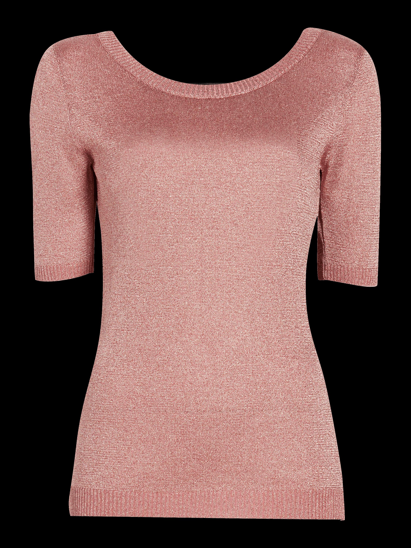 Lurex Three-Quarter Sleeve Top