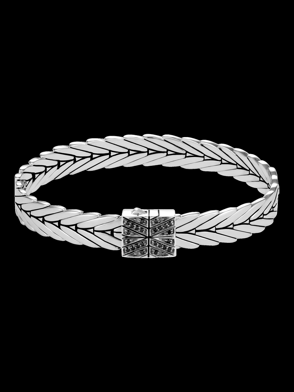 Modern Chain Black Spinel Bracelet