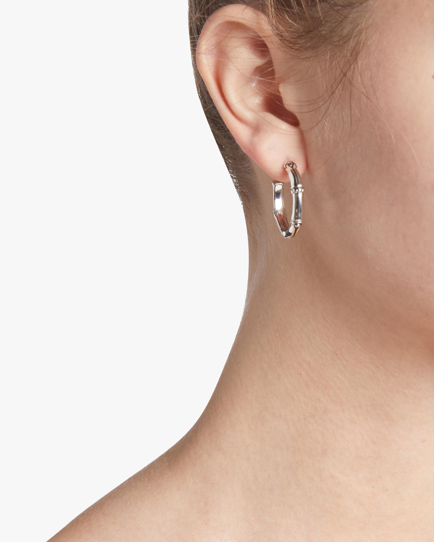 Bamboo Small Hoop Earrings