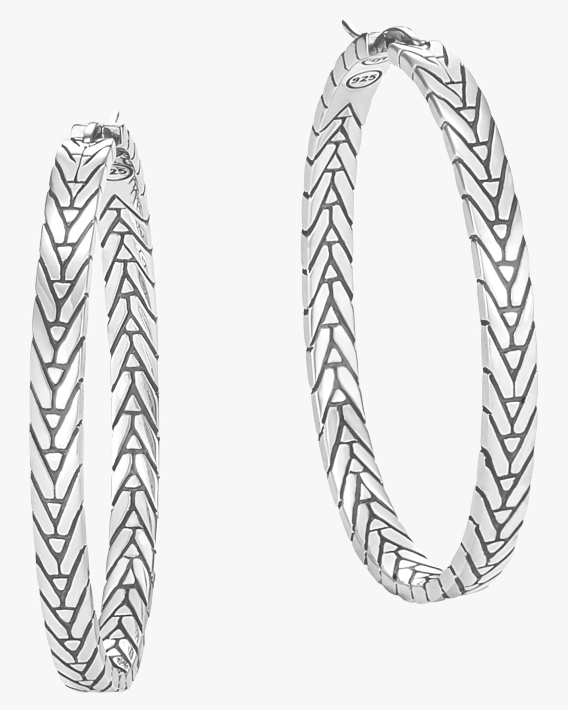 Modern Chain Hoop Earrings