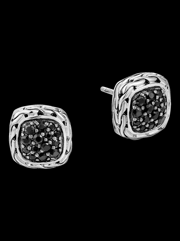Classic Chain Black Sapphire Earrings