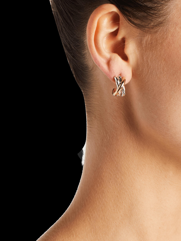 Bamboo J Hoop Earrings