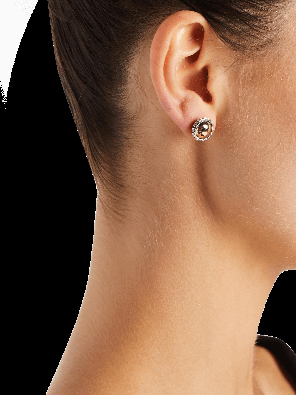 John Hardy Classic Chain Hammered Stud Earrings 2