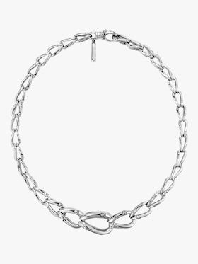 Bamboo Silver Necklace
