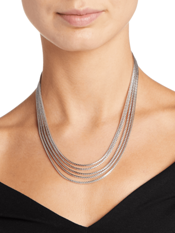 Classic Chain Five Row Necklace