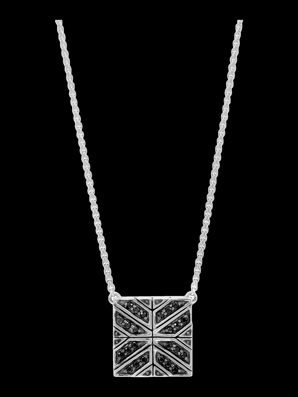 Modern Chain Black Sapphire Necklace
