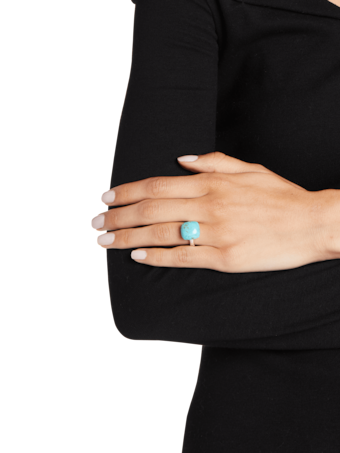 Bamboo Turquoise Orb Ring