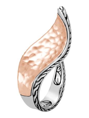 Wave Hammered Ring