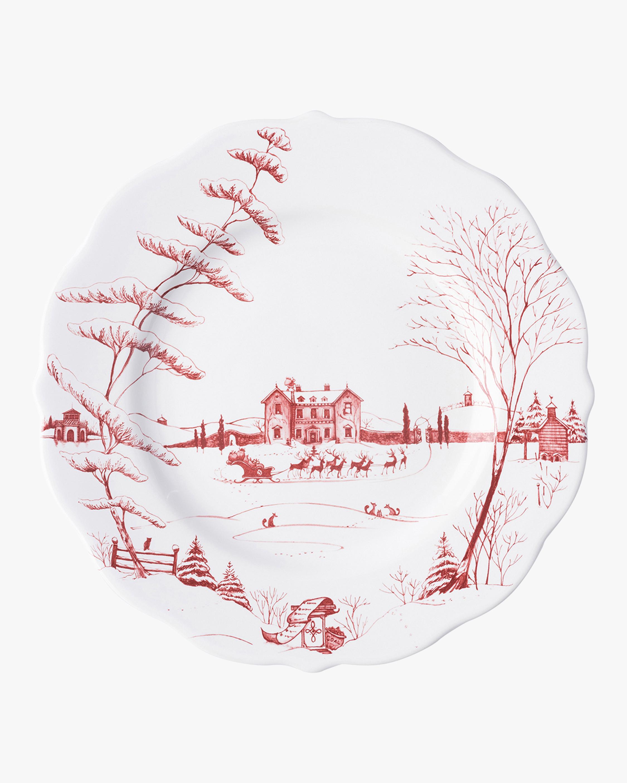 Juliska Country Estate Winter Frolic Ruby Dinner Plate 0