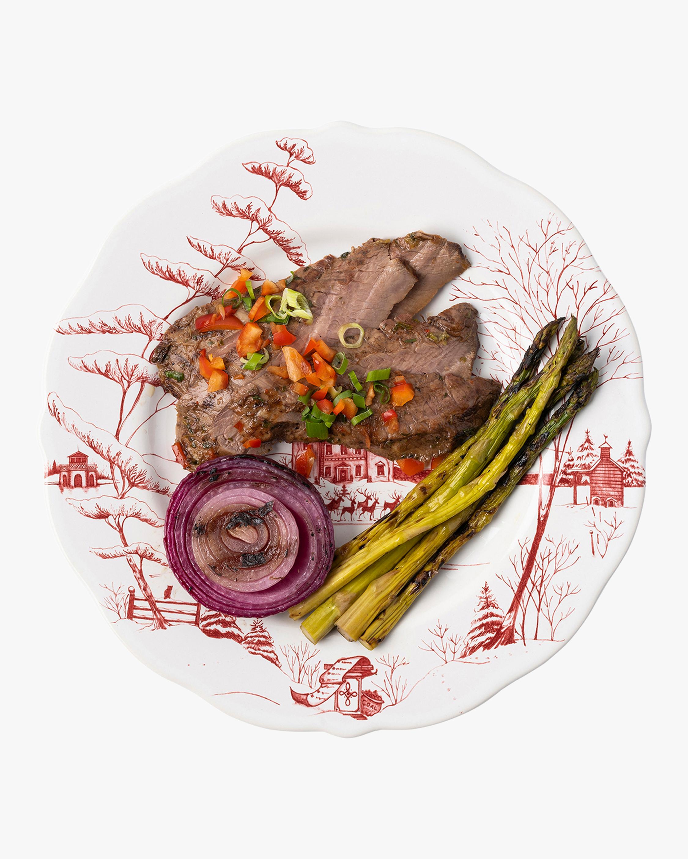 Juliska Country Estate Winter Frolic Ruby Dinner Plate 1