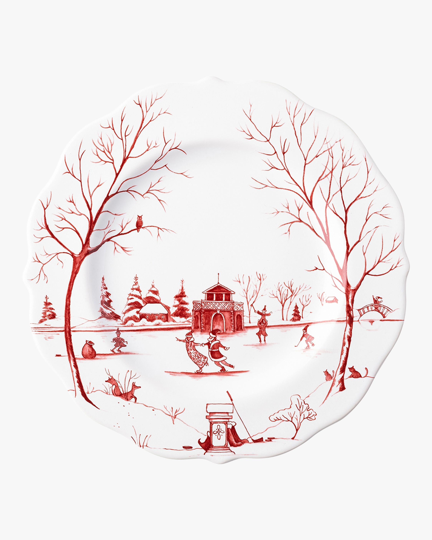 "Juliska Country Estate Winter Christmas Day"" Dessert Plate 0"