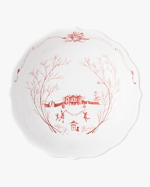 "Juliska Country Estate Winter Frolic Ruby 10"" Serving Bowl 2"