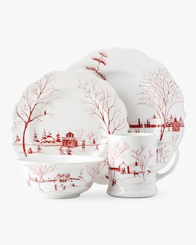 Country Estate Winter Frolic Ruby Place Setting