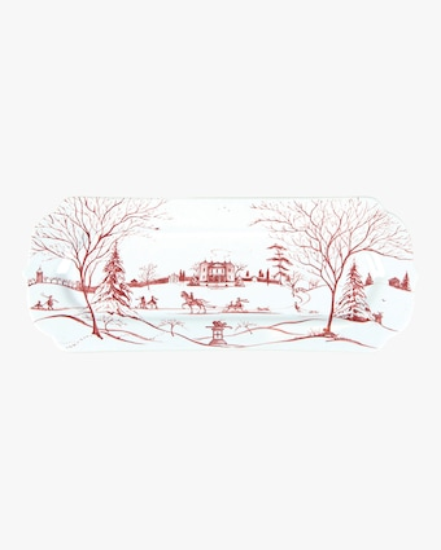 Juliska Country Estate Winter Frolic Ruby Hostess Tray 2